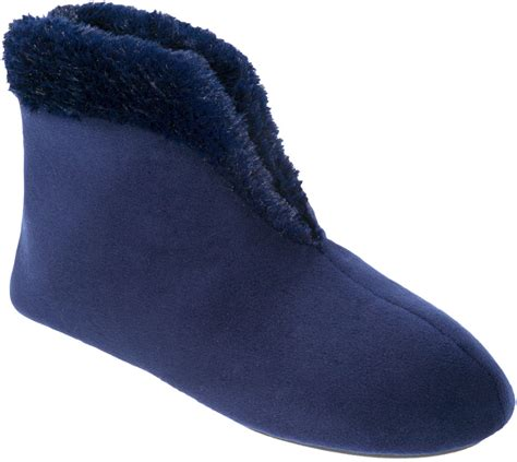 slippers boots womens dearfoams womens solid velour boot slippers ebay