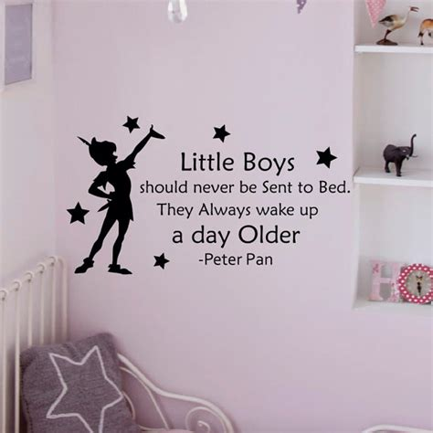 peter pan home decor peter pan wall decal quote little boys should by fabwalldecals