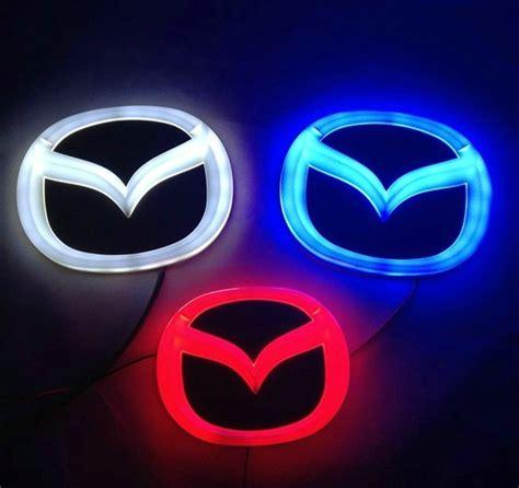 mazda 6 logo 4d mazda blue neon logo