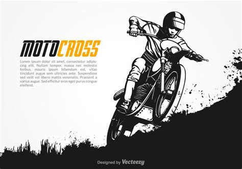 vector motocross illustration   vector art stock graphics images