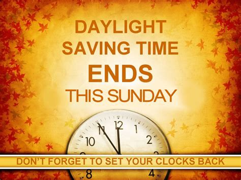 Early Daylight Savings Changes by Daylight Savings Time Ends On Sunday Mitchell County