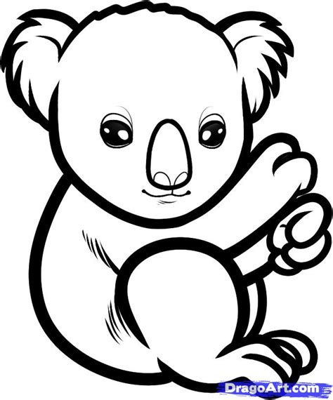 cute koala coloring pages picture of a koala to color clipart best