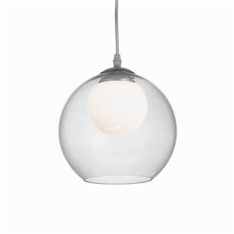 Ideal Lux Nemo Clear 200 Glass Globe Pendant Fitting Type from Dusk Lighting UK