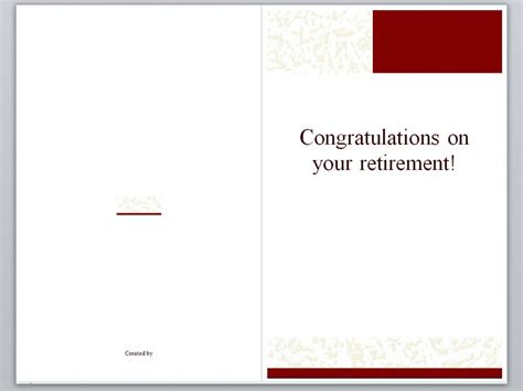 retirement card template retirement cards