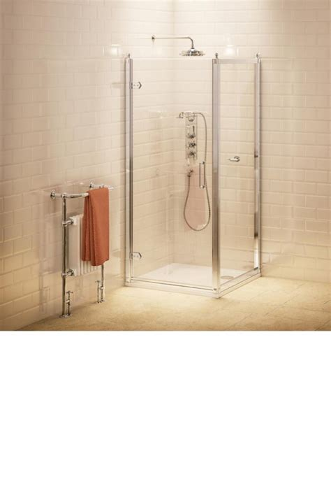 Hinged Shower Door With Side Panel burlington hinged shower door 80cm side panel 80cm