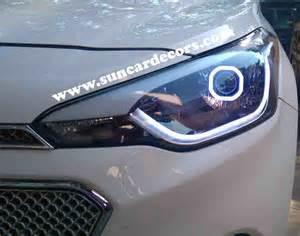 hyundai i20 elite headlights modified