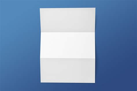 Folded Paper Letters - horizontal flip book mockup set mockupworld