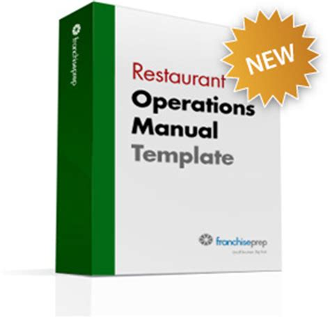 Franchise Restaurant Operations Manual Template Restaurant Franchise Operations Manual Template