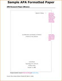 cover page for research paper apa
