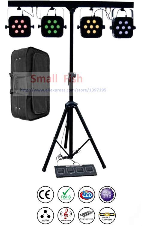 led stage lighting kit free shipping led par kit 4pcs 7x10w 4in1 rgbw led slim