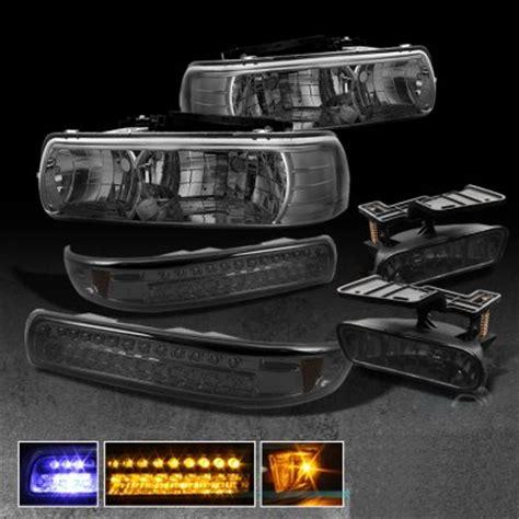 smoked headlights and lights chevy silverado 1999 2002 smoked headlights and bumper