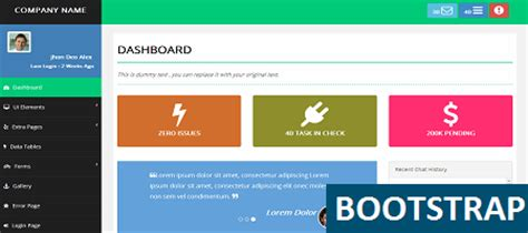 templates bootstrap basic advance admin template is free template for your admin