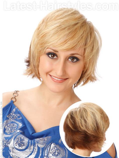 short hair for round faces in their 40s easy hairstyles for short hair over 50