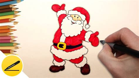 how to draw santa claus step by step easy christmas