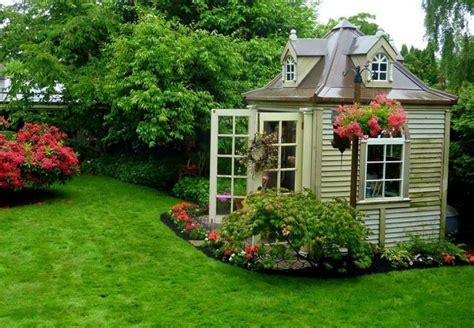cool backyard sheds great garden shed garden and potting sheds pinterest