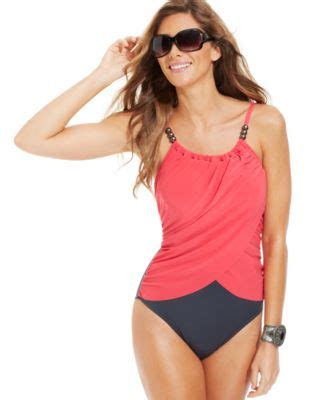magicsuit draped tummy control one piece swimsuit miraclesuit deep end printed one piece swimsuit swimwear