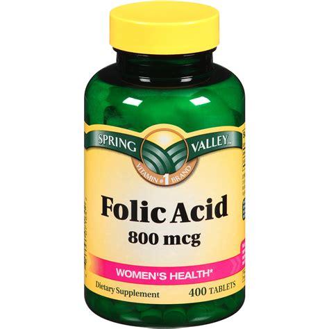 Mcg For Methhet Detox F Folate Supplements by Valley Folic Acid 800mcg S Health 400