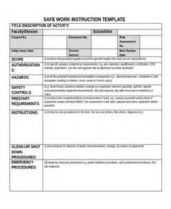 standard work template iso standard work exle pictures to pin on