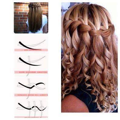 braided hairstyles seventeen waterfall braid http www seventeen com mobile fashion
