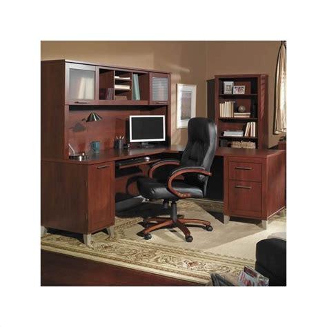 bush furniture somerset  shaped wood home office set