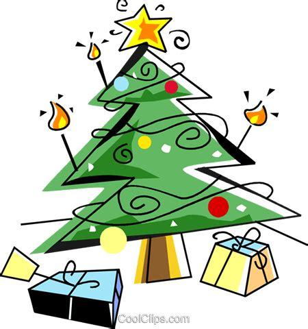 weihnachtsbaum mit geschenken vektor clipart bild