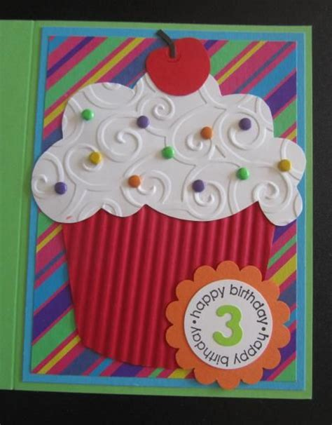 Birthday Card Cupcake Handmade Birthday Card By Penny Strawberry Giant Punch