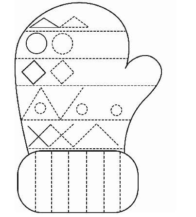 winter clothes tracing worksheet for crafts and