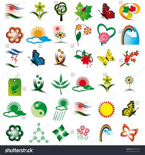 floral design elements vector set set floral design elements vector illustration stock