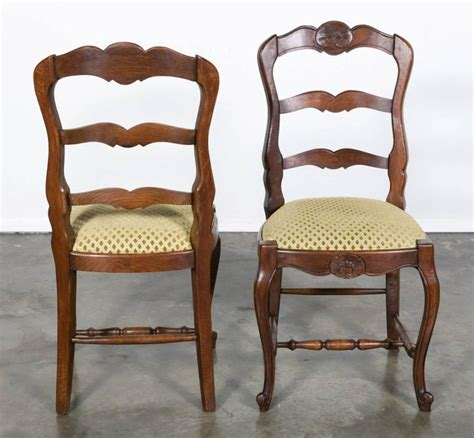 Country Style Upholstered Furniture by Set Of Six Country Ladder Back Chairs With