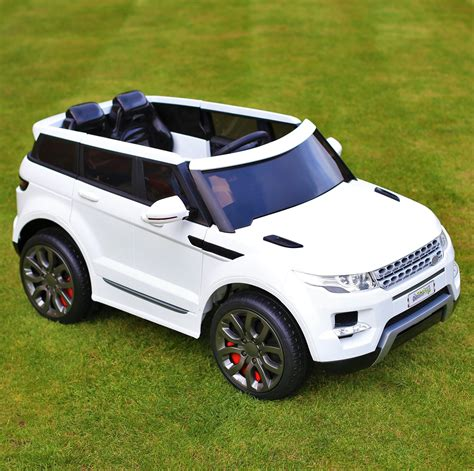 jeep car white maxi range rover hse sport style 12v electric battery ride