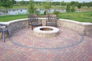 Brick Patio With Fire Pit by Brick Patio Ideas Viewing Gallery