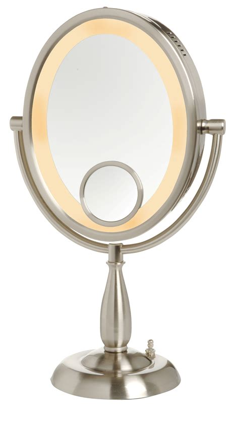 15x lighted makeup mirror jerdon 10x 1x w 15x insert lighted vanity makeup mirror