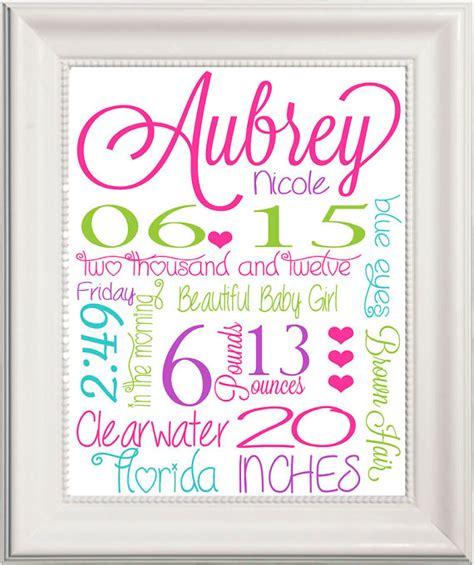 printable birth announcement wall art printable baby girl birth announcement custom by