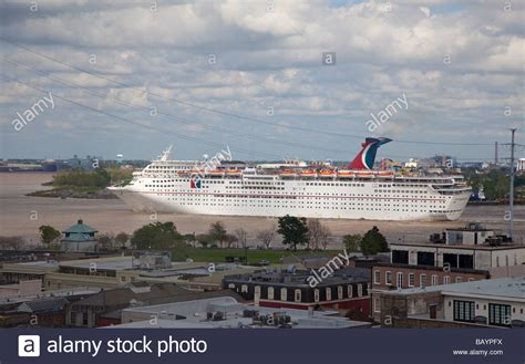 lower mississippi river boat cruise cruise ship on mississippi river at new orleans stock