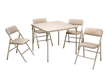cosco products 5 folding table and chair set black cosco products 5 pc folding table and chair set