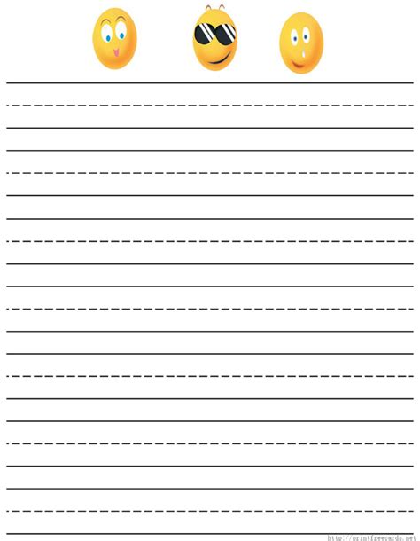 printable writing paper with space for picture primary writing paper printable best photos of free