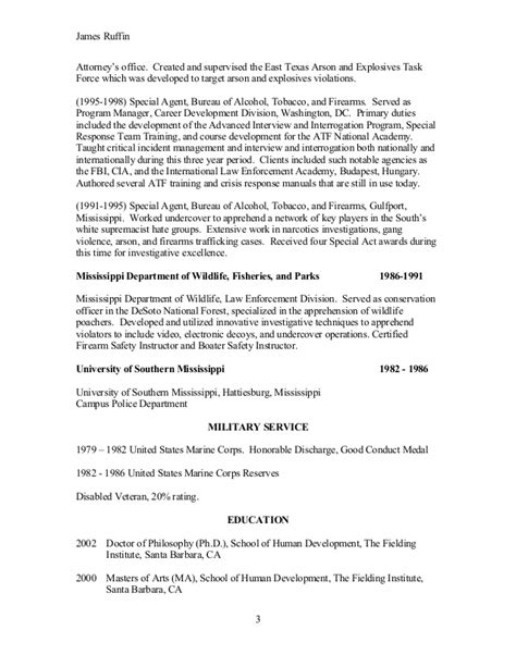 Fbi Special Resume by Fbi Special Resume Resume Ideas