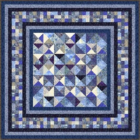 Patchwork Quilt Kits Pre Cut - indigo blues 79 quot quilt addicts pre cut patchwork quilt