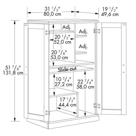 armoire dimensions computer armoire by sauder
