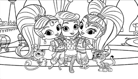shimmer and shine coloring pages nick jr shimmer and shine coloring pages to print coloring pages