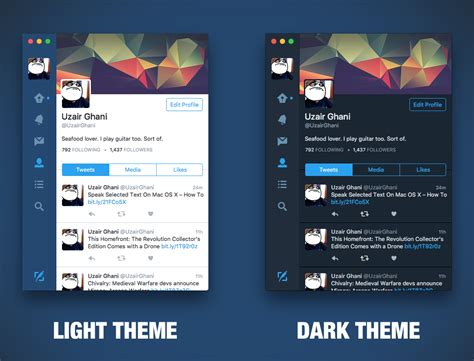 black themes for mac switch between dark light theme in twitter for mac how to
