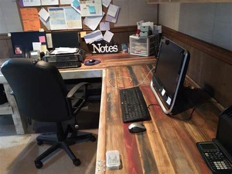rustic l shaped desk rustic l shaped desk shanty 2 chic