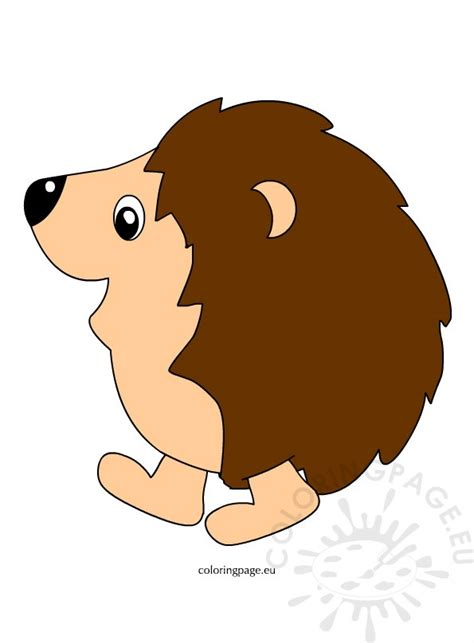 hedgehog clipart pictures coloring page