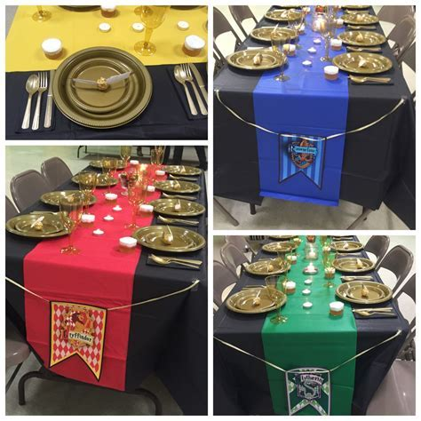 Harry Potter Baby Shower   table decorations and place