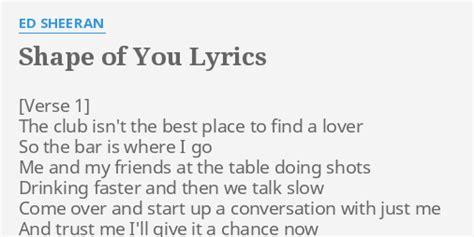 ed sheeran shape of you lyrics l o r d e r i b s hd lyrics download pdf