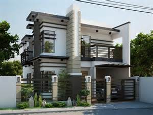 Two double storey houses with small balcony amazing architecture