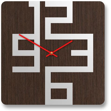 modern wall clock stylish wooden wall clocks with modern design digsdigs