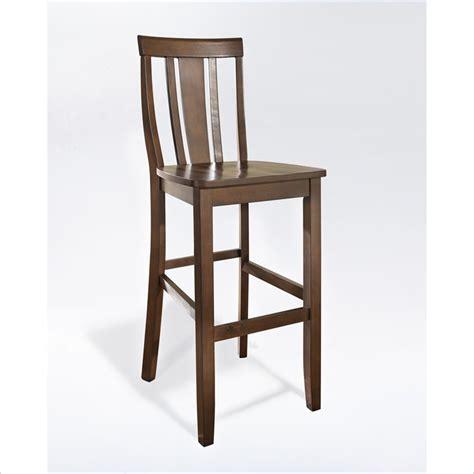 Back Bar Furniture Crosley Furniture 30 Quot Shield Back Mahogany Bar Stool Ebay