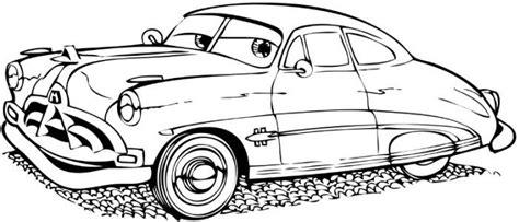 cartoon car doc hudson coloring page no instructions