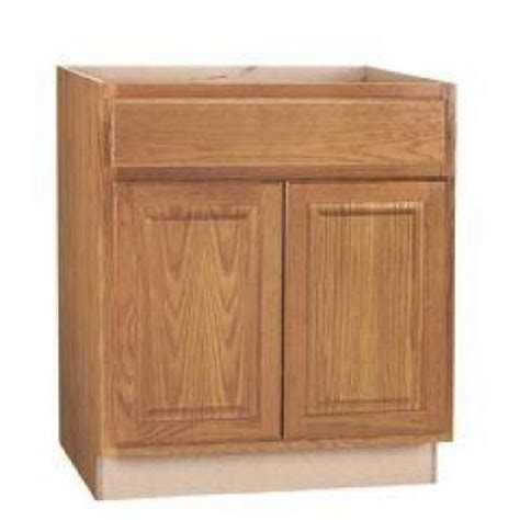 home depot kitchen sink cabinet hton bay 30x34 5x24 in hton sink base cabinet in medium oak ksb30 mo the home depot